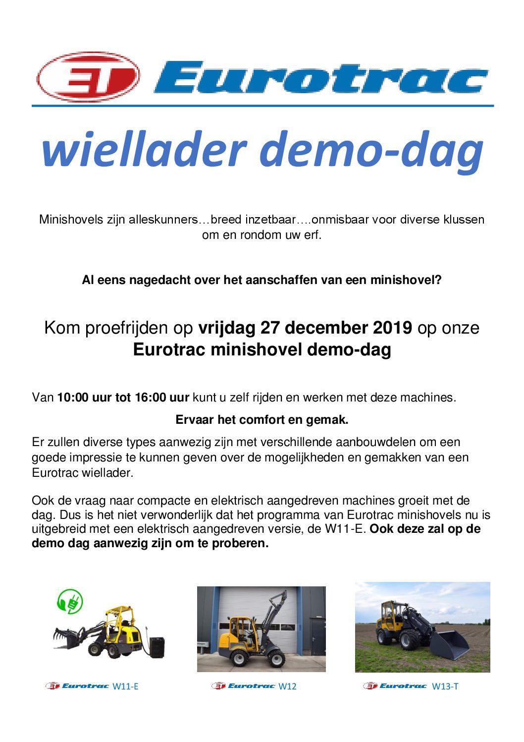 Eurotrac demo dag !!